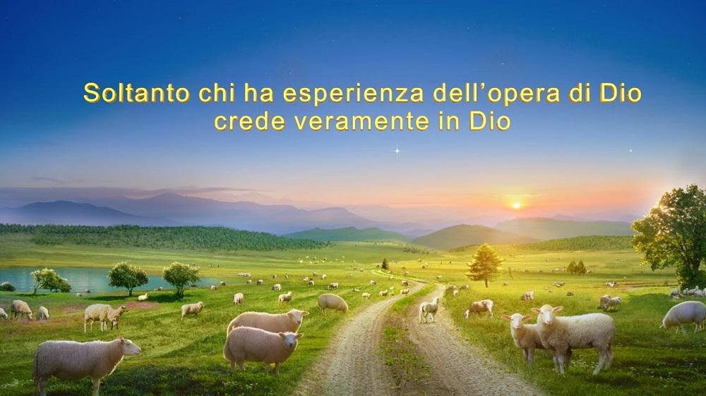 Soltanto chi ha esperienza dell'opera di Dio crede veramente in Dio