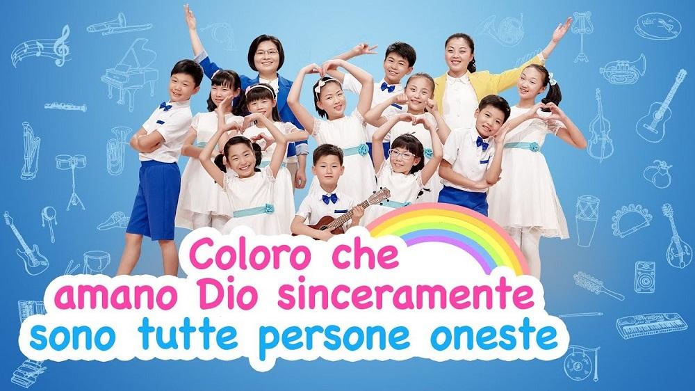 """Canzone cristiana per bambini - """"Coloro che amano Dio sinceramente sono tutte persone oneste"""" Lodare Dio Onnipotente"""
